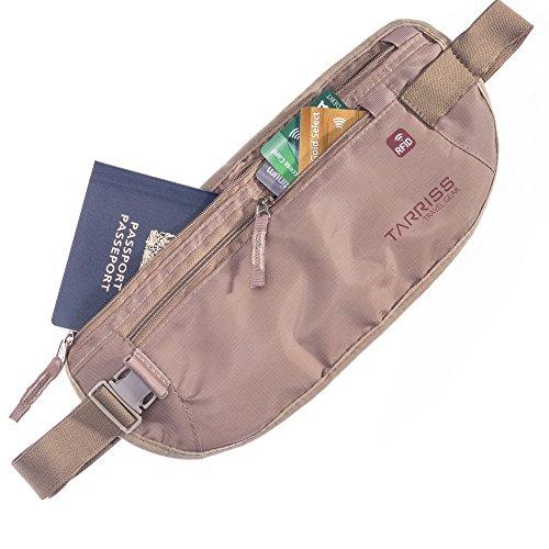 Tarriss RFID Blocking Money Belt - Waist Stash - Passport Holder - Lifetime Warranty