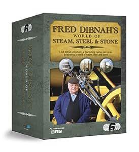 Fred Dibnah's World Of Steam, Steel & Stone Box Set [DVD]