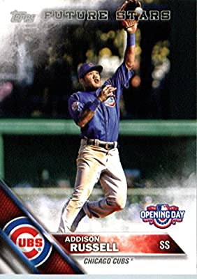 2016 Topps Opening Day #OD-121 Addison Russell Chicago Cubs Baseball Card