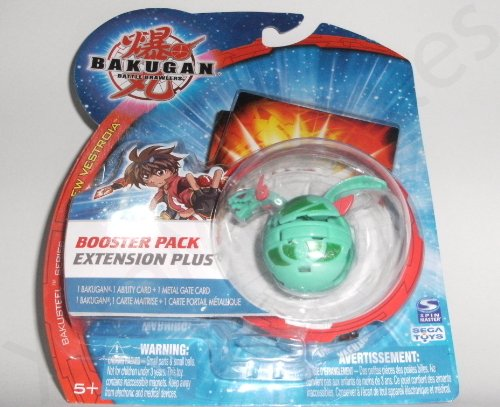 Bakugan New Vestroia Bakusteel Green Motra Booster Pack Extension Plus - 1