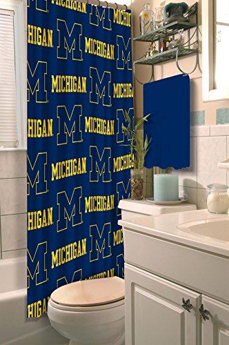 Team Curtains Teamcurtainscom: NCAA Michigan Wolverines Shower Curtain College Football