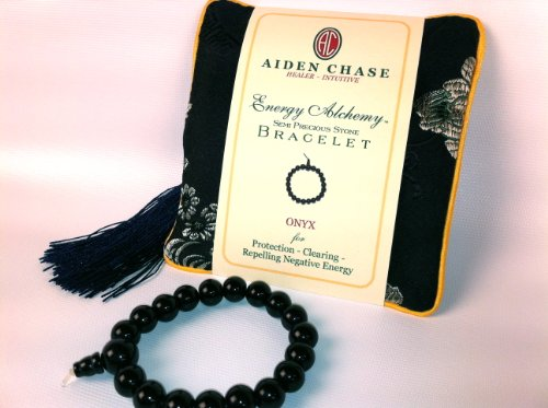 Energy Alchemy semi-precious stone Bracelet: ONYX for Protection, Clearing & Repelling Negative Energy