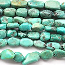 Natural Genuine Real Turquoise Nuggets 8-10mm Gemstone Jewelry Making Loose Beads