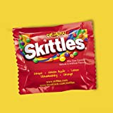 Skittles and Starburst Original Halloween Candy Bag, 65 Fun Size Pieces, 31.9 ounces