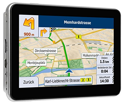 Blaupunkt-TravelPilot-53-EU-LMU-mobiles-Navigationssystem-127-cm-5-Zoll-Touchscreen-Farbdisplay-TMC-Stauumfahrung-Lebenslange-Karten-Updates-Fahrspurassistent-Text-to-Speech-Kartenmaterial-TomTom-Maps