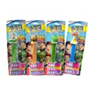 Disney Toy Story Pez Candy Dispenser Collection - Four of Your Favorite Characters - Buzz Lightyear, Woody, Rex and Slinky Dog - Four (4) Dispensers in All, Each with 3 Rolls of Pez Candy (Raspberry, Raspberry Lemon and Grape)