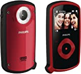 Philips CAM150RD/37 Waterproof 8 MP Digital Camera with CMOS Sensor plus 5x Digital Zoom (Red)