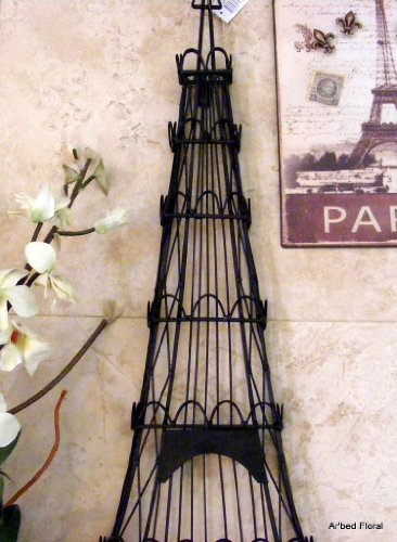 Iron Eiffel Tower Jewelry Holder Wall Decor ~ 31