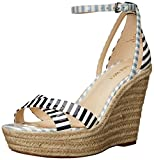 Nine West Womens Joker Synthetic Wedge Sandal