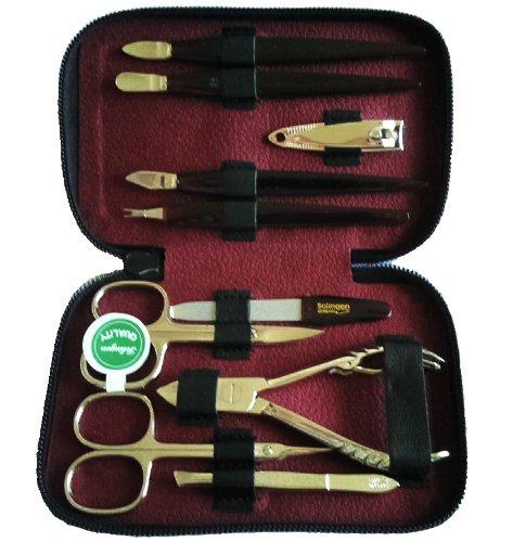 Exclusive 10 Piece Leather Manicure/Pedicure Set
