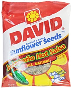 David Sunflower Seeds Jalapeno Hot Salsa - Bag 12/5.25oz