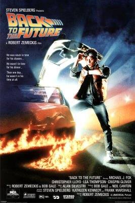 Back to the Future Movie (Michael Looking at Watch) Poster Print Picture