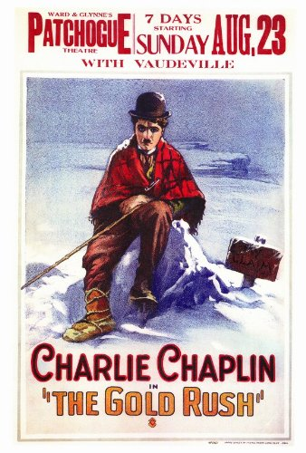 movie poster of Charlie Chaplin in The Gold Rush