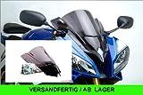 Puig 4635H Racing Screen for Yamaha YZF-R6 2008-2014, Smoke, Medium