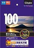 ナカバヤシ インクジェット光沢紙 高級光沢紙 L判 100枚 JPPG-L-100