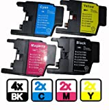 10x Compatible Ink Cartridges LC1220 LC1240 to Brother DCP J525W J725DW J925DW PRINTER (4x LC1240BK + 2x LC1240C + 2x LC1240M + 2x LC1240Y)