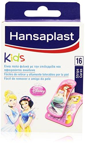 Hansaplast Kids-Pfaffen Disney Prinzessinnen Motiv, leicht zu entfernen und extrem erträglich von der Haut-16Stück