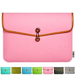 Litop 11 11.6 12 Inch Felt Laptop Sleeve Case Cover Shell for 11.6 Inch Macbook Air and Other 11 Inch Laptop Computer Notebook (Pink, Macbook 11/12 inch)