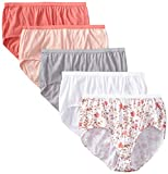 Just My Size Womens 5 Pack Cotton Brief Assorted Color Panty