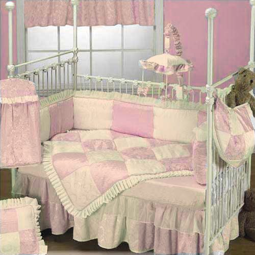 Baby Doll Bedding Queen Crib Bedding Set, Pink