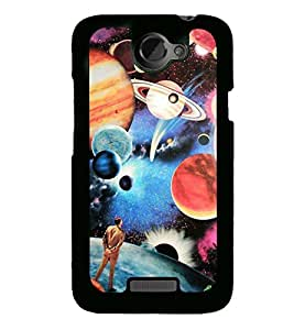 Printed Back Covers for HTC X + 3D F1 Screen Magnifier + 360 Degree Rotating Car Mount Cradle Holder Windshield Mobile Phone Stand by Carla Store