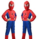 New Marvel Halloween Cosplay Kids Spiderman Costume, One Size in M