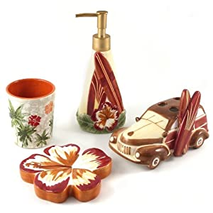 Amazon.com - Studebaker Hawaiian Surf Boards Shower & Bath