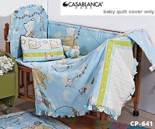 "Disney Classic Winnie The Pooh CP641 Baby Quilt Cover (35' x 48"") (330 Threads / 10cm squared) 100% Cotton - 1"