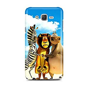 Motivatebox - Samsung Galaxy J5 2016 edition Back Cover - Madacascar zoo Toons Polycarbonate 3D Hard case protective back cover. Premium Quality designer Printed 3D Matte finish hard case back cover.