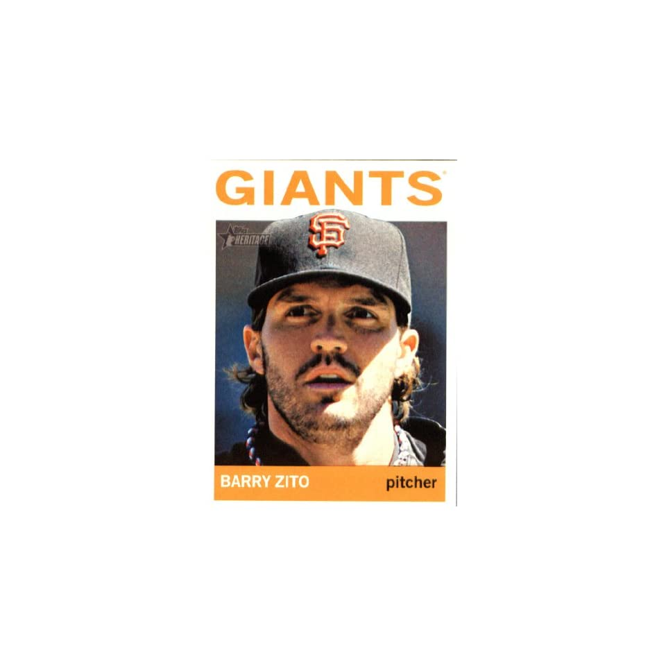 2013 Topps Heritage MLB Trading Card # 404 Barry Zito San Francisco Giants
