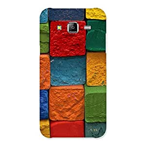Enticing Color Cubes Multicolor Back Case Cover for Samsung Galaxy J5