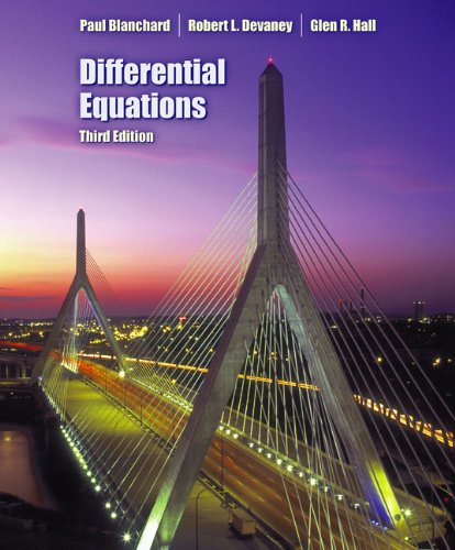 Differential Equations (with CD-ROM), Blanchard, Paul; Devaney, Robert L.; Hall, Glen R.