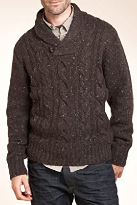 North Coast Shawl Collar Cable Knit Jumper [T30-4423N-S]