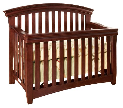 Westwood Design Stratton Convertible Crib with Guard Rail, Virginia Cherry