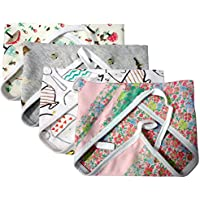 Kidbee New Born Baby Hosiery Cloth Nappy Multi Color Set Of 4d [0-6MONTHS]