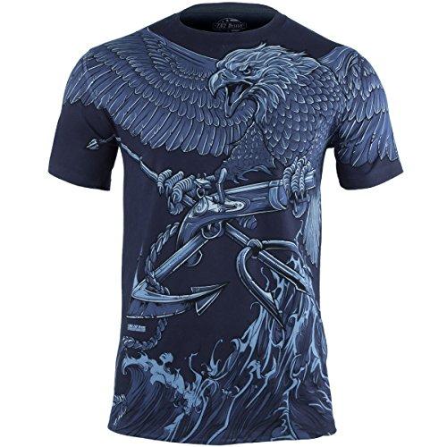 7.62 Design Uomo USN Seals Naval Special Warfare T-Shirt Navy Blu taglia M