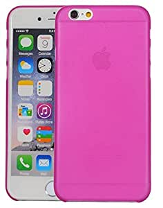"""Sheerworth™ """"Translucent Series"""" 0.3mm Ultra Thin Matte Finish Hard Case Back Cover For Apple iPhone 6 Plus/ 6s Plus - Hot Pink"""