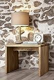 XXS-Jonas-Holzbett-180-x-200-cm-in-Wildeiche-natur-gelt-mit-Bettkasten-inkl-Nachtkommode-massives-Bett-in-natrlichem-Design-hohes-Kopfteil-fr-Leseabende-zeitloses-Bett-fr-Ihr-Schlafzimmer