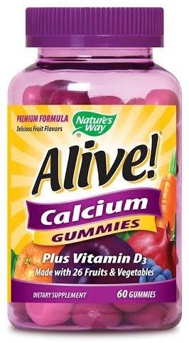 Nature's Way, Alive! Calcium Gummies, 60 Gummies