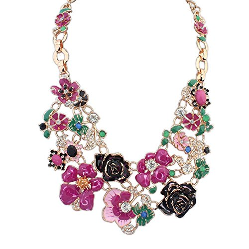 The Starry Night Rural Amorous Feelings Flower Gold Plated Sweet Lobster Clasp Chain Beautiful Purple Necklace For Womens Girls (Ashley Bed Parts compare prices)