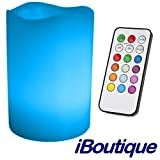iBoutique Premium Wireless / Flameless & Scented Colour Changing Mood Light Candle With Remote Control
