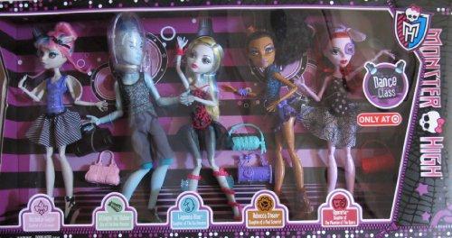 MONSTER HIGH 5 Pack DANCE CLASS w Rochelle GOYLE, 'GIL' WEBBER, Lagoona BLUE, Rebecca STEAM & Operetta TARGET EXCLUSIVE (2013) (Monster High Dolls Rebecca Steam compare prices)