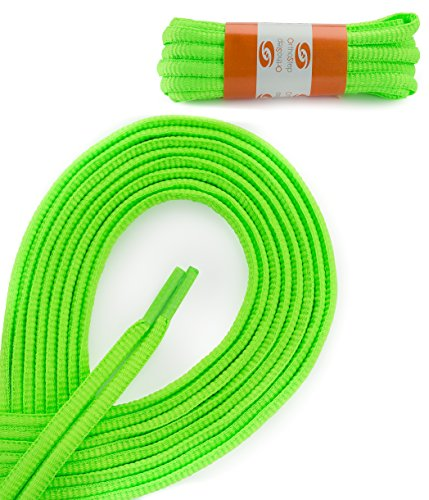 OrthoStep Oval Athletic Neon Green 54 inch Shoelaces 2 Pair Pack (Neon Green Shoe Laces compare prices)