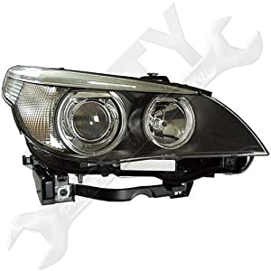 HELLA 160292011 BMW 5 Series E60 Passenger Side Replacement Headlight Assembly