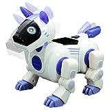 Durherm Blue IR RC Smart Storytelling Sing Dance Walking Talking Dialogue Robot Dog Pet Toy, BROWN