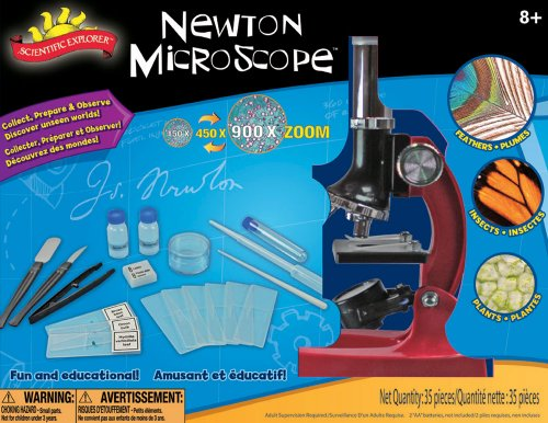 Poof-Slinky - Scientific Explorer Newton Microscope Kit With 900X Magnification, 0Sa402Bl
