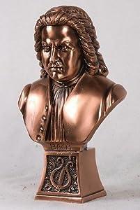Copper Small Johann Sebastian Bach Bust Figurine.