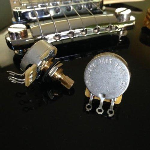 Cts 450S Series 525K Short Split Shaft Audio Taper Potentiometers - 500K