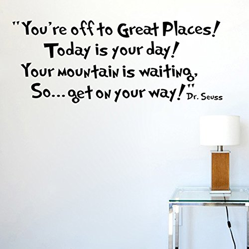 You'Re Off To Great Places... Dr Seuss Wall Sticker Decals Home Decor Art Vinyl Quote Mural Bedroom front-1063055