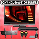 Sony Bravia W-Series KDL-46W4100 46-inch 1080P LCD HDTV + Sony DVD Player w/ Wall Mount Accessory Ki